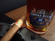 Charuto Monte Pascoal Robusto com Whisky Chivas Regal 18 anos
