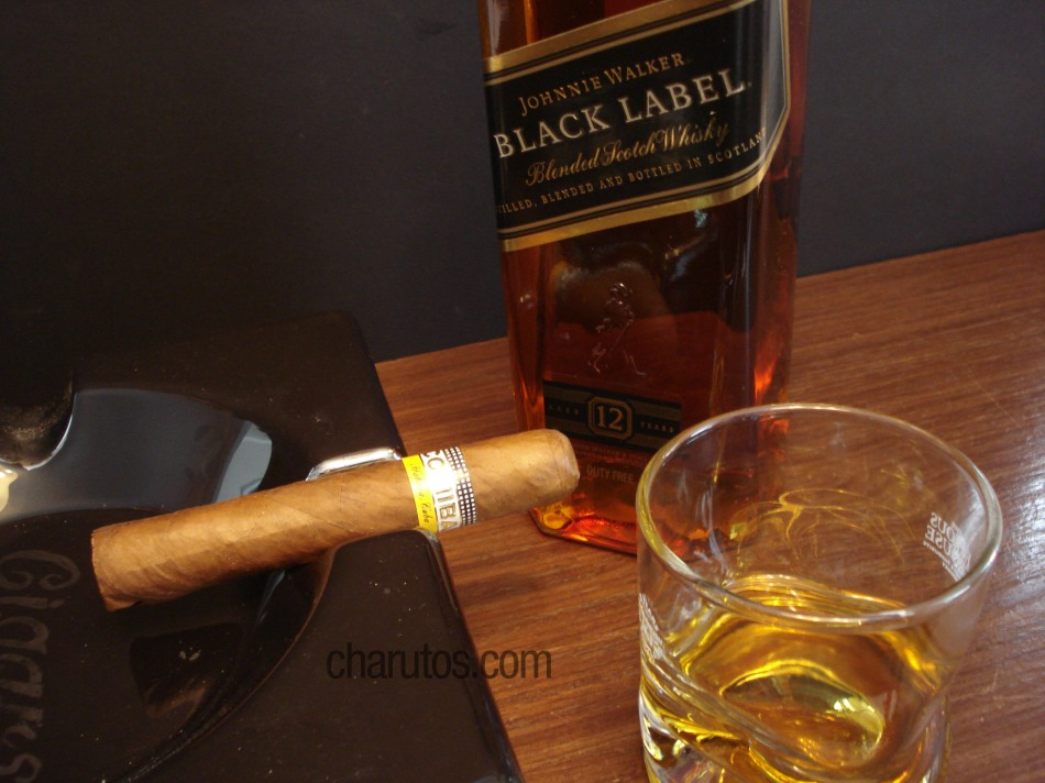 Charuto Cohiba Robusto com Whisky Johnnie Walker Black Label