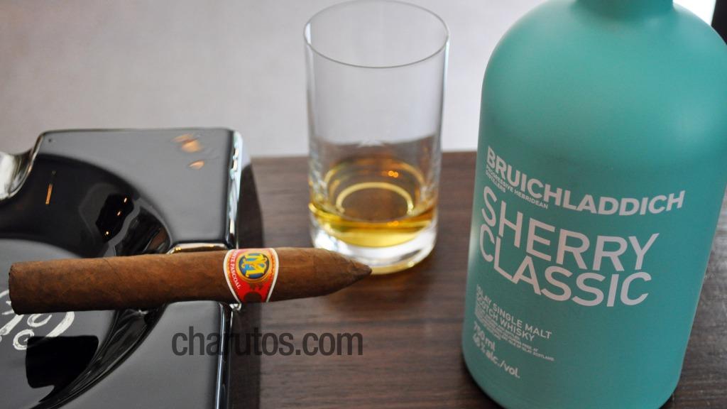 Charuto Monte Pascoal Belicoso com Whisky Bruichladdich Sherry Classic (Single Malt)