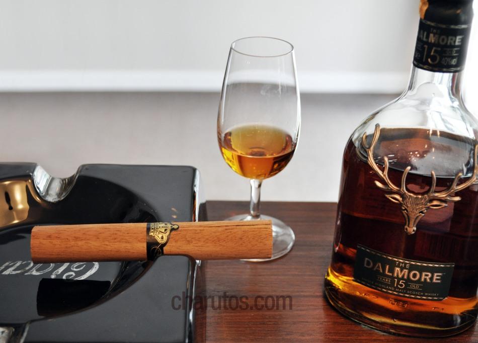 Charuto Dona Flor Gran Corona com Whisky Puro Malte Dalmore 15 anos