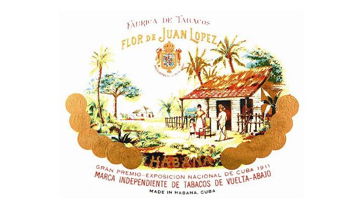 Marquilla dos charutos Juan Lopez